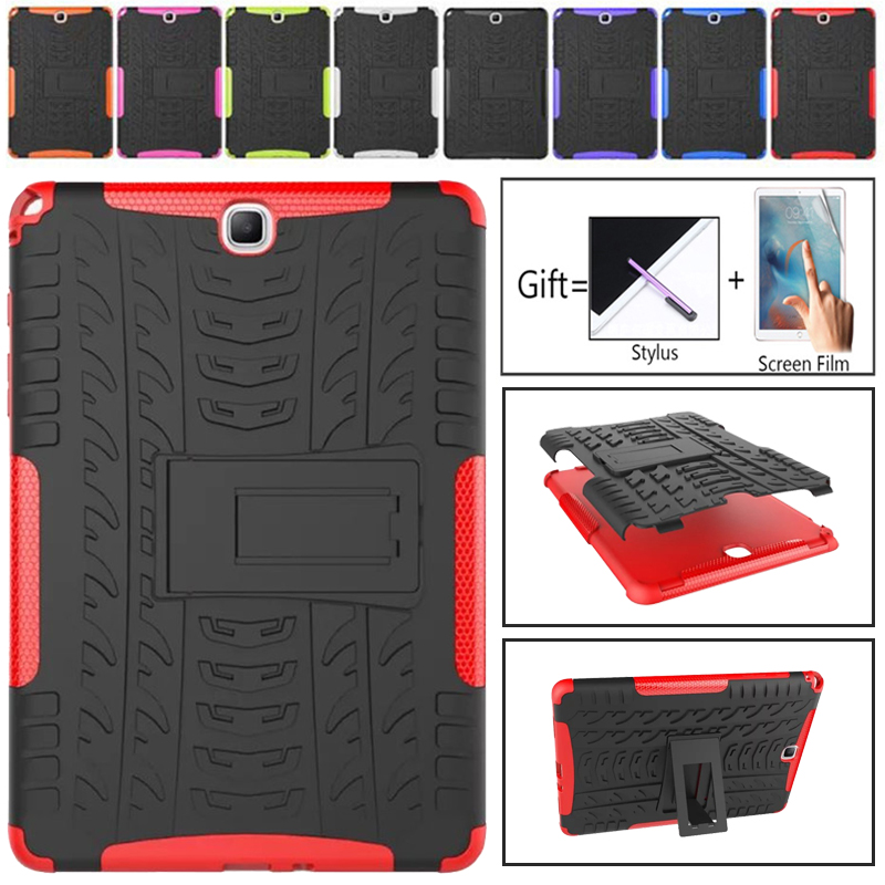 For Samsung Galaxy Tab A 9.7 T550 T555 <font><b>P555</b></font> SM-T555 Tough Impact Case Heavy Duty Armor Hybrid Anti-knock Silicon Hard Back Cover image
