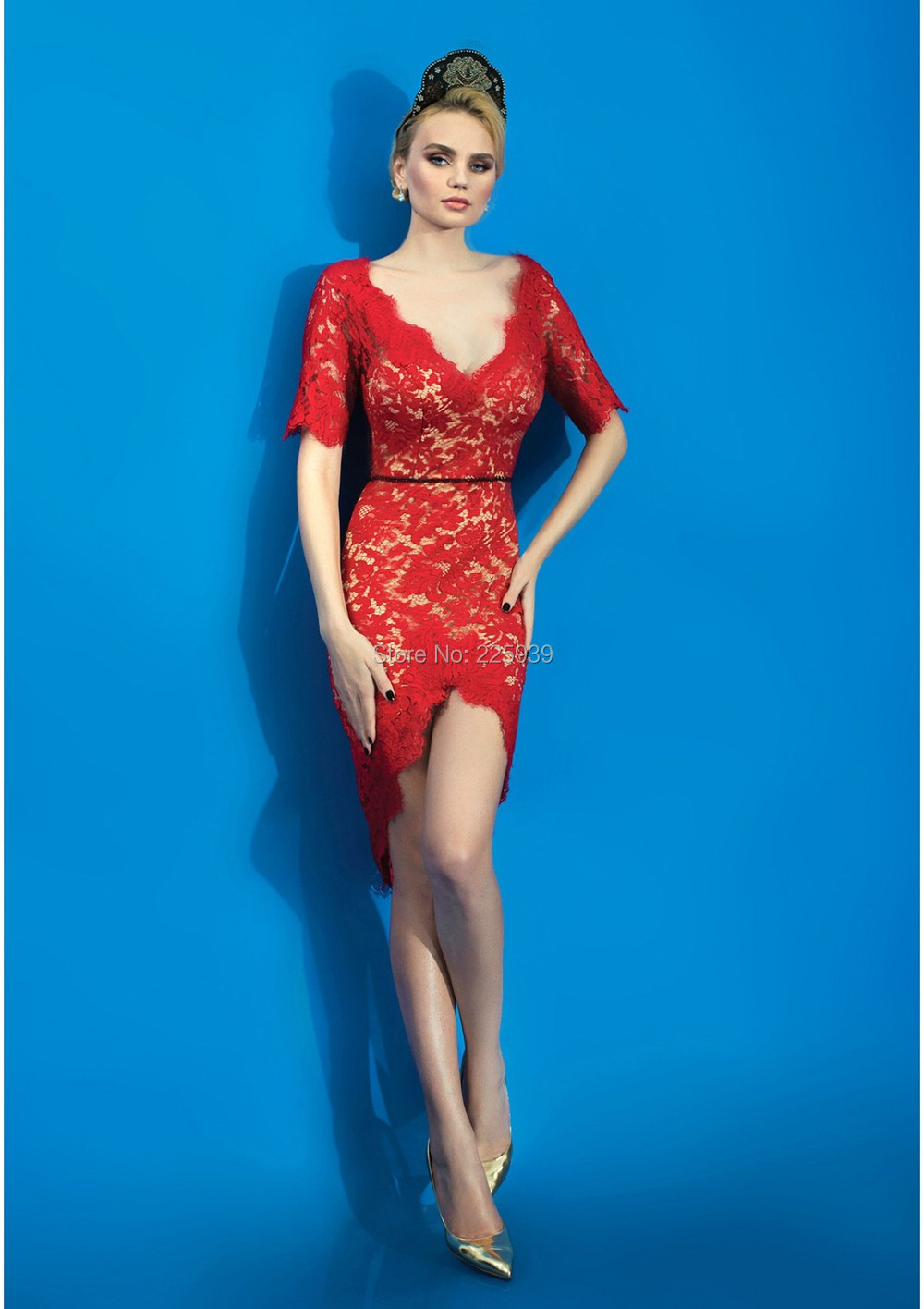Red sparkly cocktail dresses