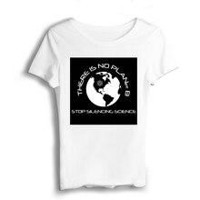 There Is No Planet B T Shirt Women Sexy & Club Tshirt Modal Casual Jersey Short Appliques O-Neck T-shirt Prints Graphic Shirts