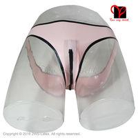 Sexy đồ lót Cao Su Đáy Quần Dây Kéo trims Cao Su thong quần lót briefs Lót Đồ Lót quần panty cộng với kích thước bottoms KZ-024