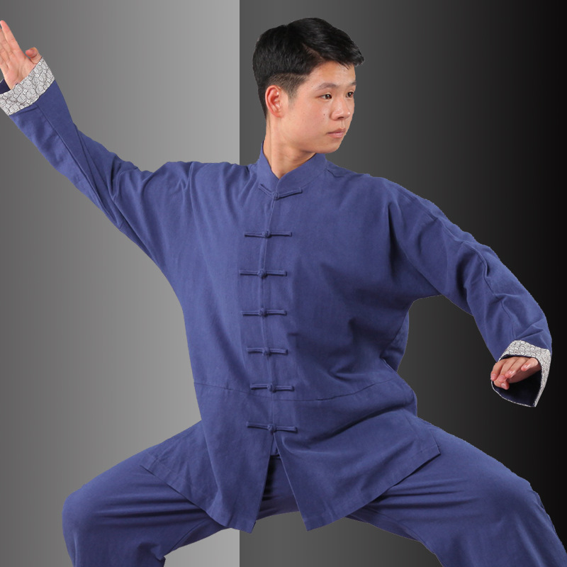 Black Lightcotton Adult Kung Fu Clothing Kids Tai Chi Uniforms Men Martial Arts Suit Kung Fu Clothes Wushu Taiji Taekwondo Suit