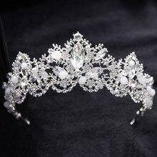 Wedding Bridal Bridesmaid Flower Girls Zircon Crystal Tiaras Crowns Hairwear for Women Wedding Bridal Hair Jewelry Accessories