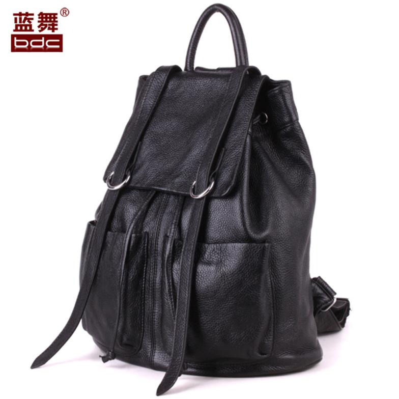 Freeshipping 2015 New Fashion Genuine Leather Backpacks Women Backpack Preppy Style School Bag Laptop Backpack 3 Colors Bags 2015 new fashion designer genuine leather brand ladies preppy style women backpack school backpack women shoulder wnb069