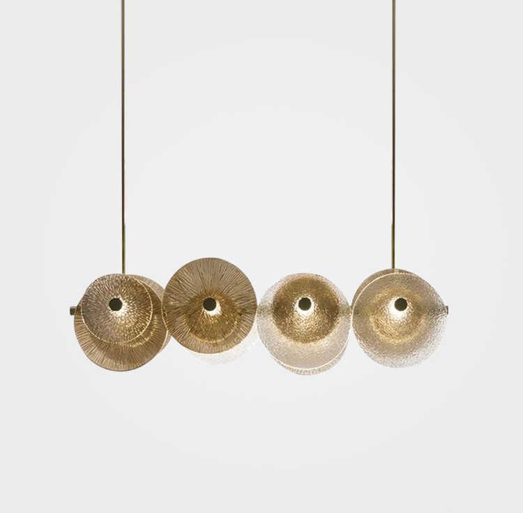 الحديثة الحد الأدنى مصمم الزجاج مطعم الثريا ضوء الفاخرة شخصية الإبداعية بار غرفة المعيشة نموذج غرفة الفن led مصباح
