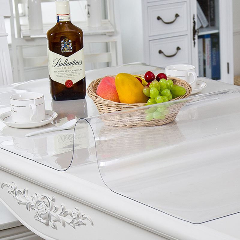 PVC Tableclotare Kitchen Tablecloth Oil Glass Cloth Soft Cloth 1.0mm Can Be Customizedh Tablecloth Transparent Waterproof Tablew