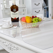 PVC Tableclotare Kitchen Tablecloth Oil Glass Cloth Soft 1.0mm Can Be Customizedh Transparent Waterproof Tablew