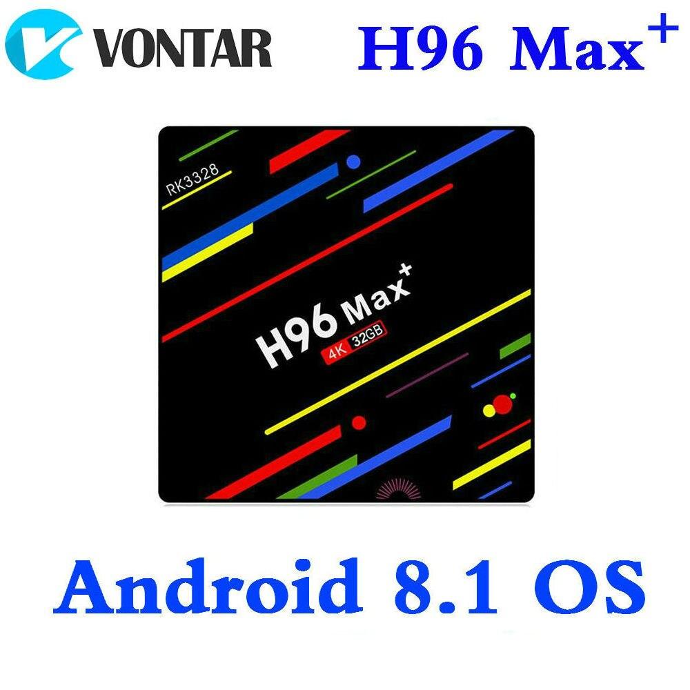 H96 MAX Plus Smart TV BOX Android 8.1 RK3328 4 K Media Player QuadCore 4 GB di Ram 64 GB ROM h96Max + IP TV TVBOX USB3.0 BT pk h96 pro