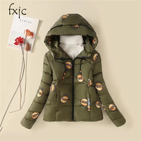 2017 Winter New Cotton Thickening Warm Cotton Clothing Large Size Was Thin Cotton Jacket Korean Slim