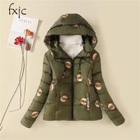 2017 Winter New Cotton Thickening Warm Cotton Clothing Large Size Was Thin Cotton Jacket Korean Slim