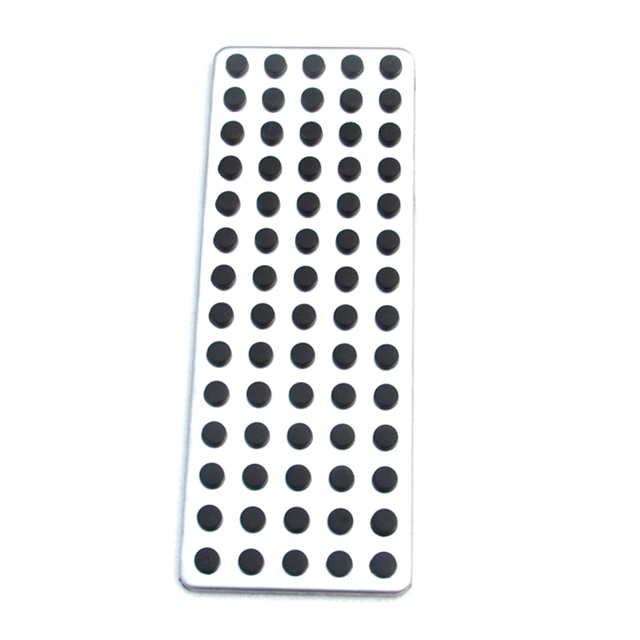 Non slip foot rest plate no drill footrest pedal cover for Mercedes-Benz B C E S Cls Slk Cla Gla Glk Ml Gl class, car styling