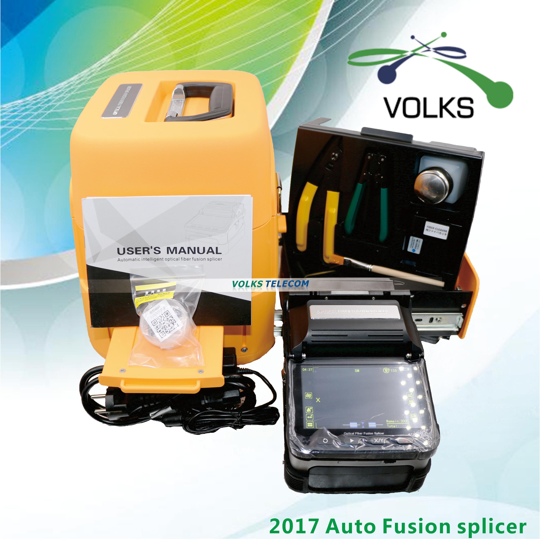 Optical Fiber Fusion splicer Machine SM MM VOLKSTEC 6 Motors Splicing Machine