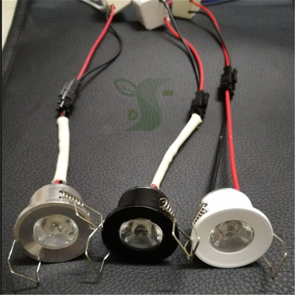 Led Mini Downlight Under Cabinet Spot Light 1w For Ceiling Recessed Lamp Ac85-265v Dimmable Down Lights With Driver Downlights