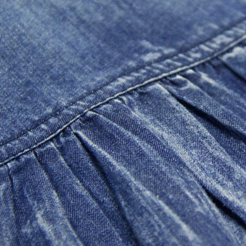 נשים שמלת 2017 Yuzi. עשוי Boho חדש ינס Vestidos V-צוואר שלושה רובע הפנסים שרוול פרח רקמת שמלות A82053