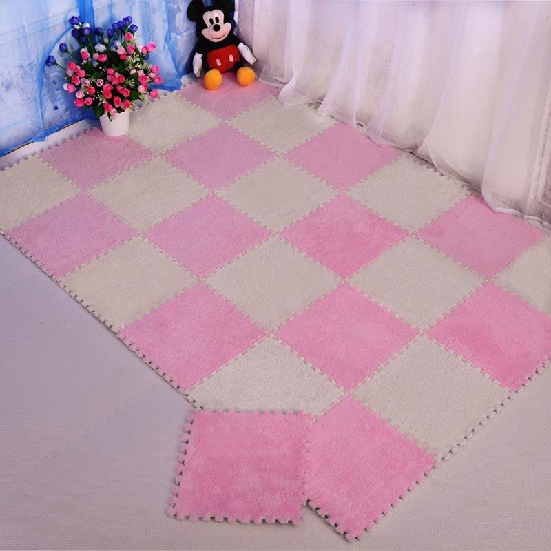 Suede Carpet Infant Crawling Dedicated EVA Soft Foam Yoga Fitness Mat Floor Puzzle Non-Slip Eco Soft Kids Crawl Mat