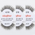 12 pairs/lot Visofree Eyelashes 100% Human Hair Handmade False Eyelashes Messy Nature Eye Lashes #218 maquiagem