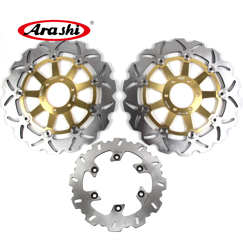 Arashi 1 Set For YAMAHA TRX 850 1995 1996 1997 1998 1999 2000 CNC Front Rear Brake Disc Brake Rotor TDM 850 1991-2001 motorcycle front and rear brake pads for yamaha fzr 400 fzr400 rrsp rr 1991 1992 brake disc pad