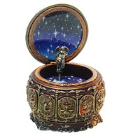 Castle In The Sky Musical Box Twelve Constellations Resin Music Box Mysterious Birthday Gift Vintage Home