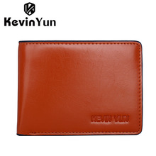KEVIN YUN designer brand luxury vintage men wallets PU leather wallet purse