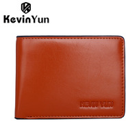 KEVIN YUN Designer Brand Luxury Vintage Men Wallets PU Leather Wallet Purse