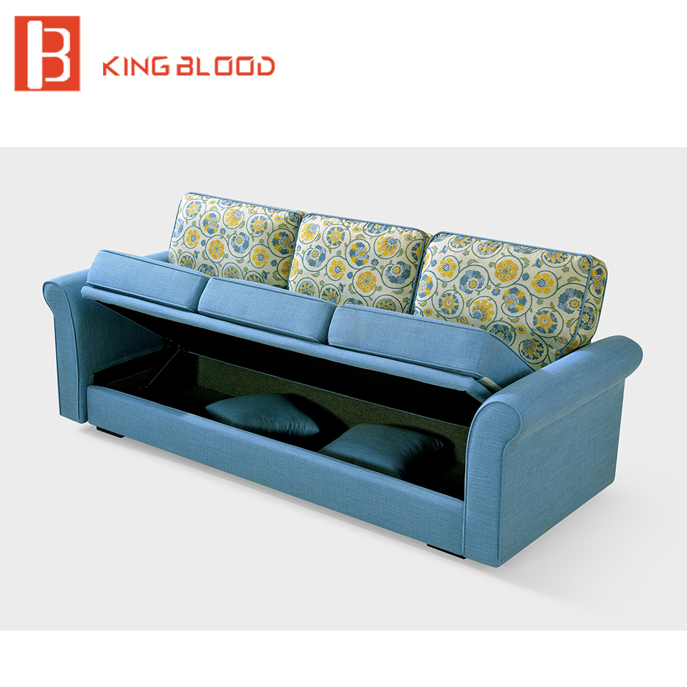 Lowered Multi Function L Shaped Sofa Bed With Big Storage