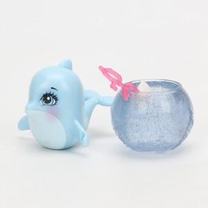 Image 5 - Enchantimals בובות צעצועי FKV54 דולצ ה דולפין Largq Jessa מדוזה מריסה Clarita דגי ליצן קרקור איור סט דגם אופנה בובה