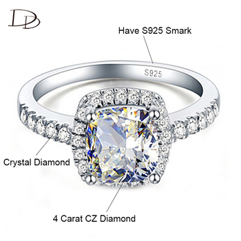DODO Silver Color Rings For Women Wedding Female Engagement Ring With Stone Stainless Steel Jewelry For Women Accessories