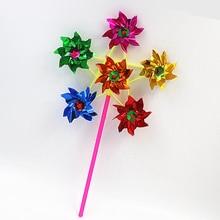 Детские игрушки: 6-стронние Кубики-колесо красочные Пластик блестки мельница Юла ветра счетчик дома дворовый садовый Декор подарков