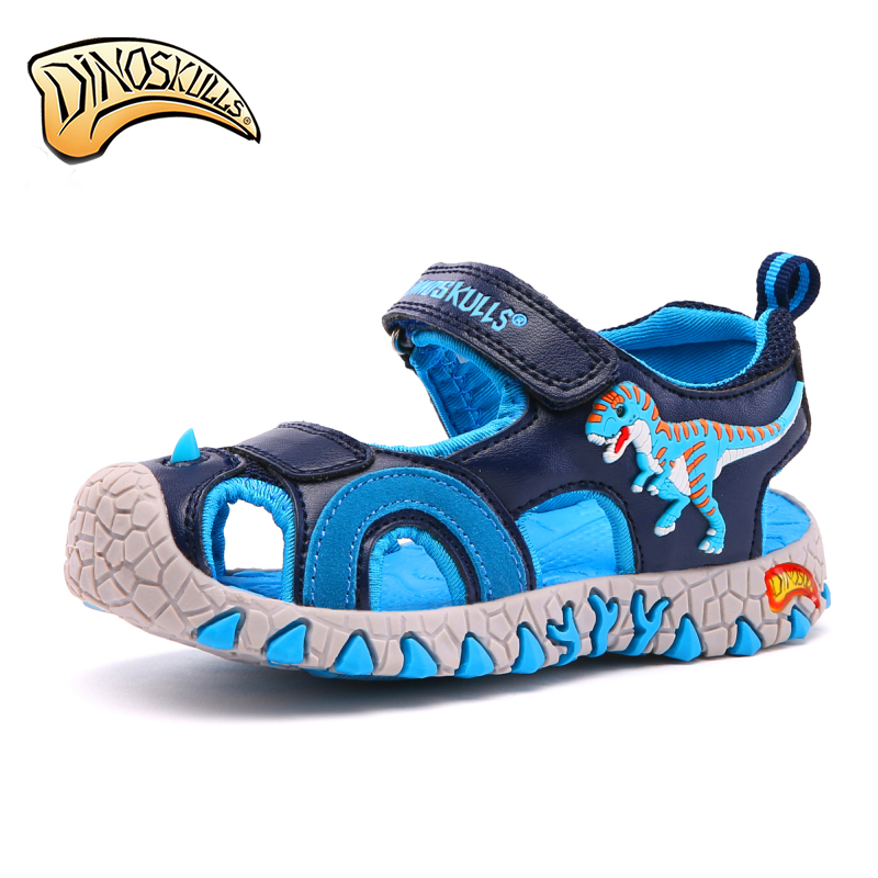 Boy Sandals Kids Summer Shoes Closed Toe Breathable Water Sandal Dinosaur Shoes For Boys Sandal Beach Children Shoe Size 27-34