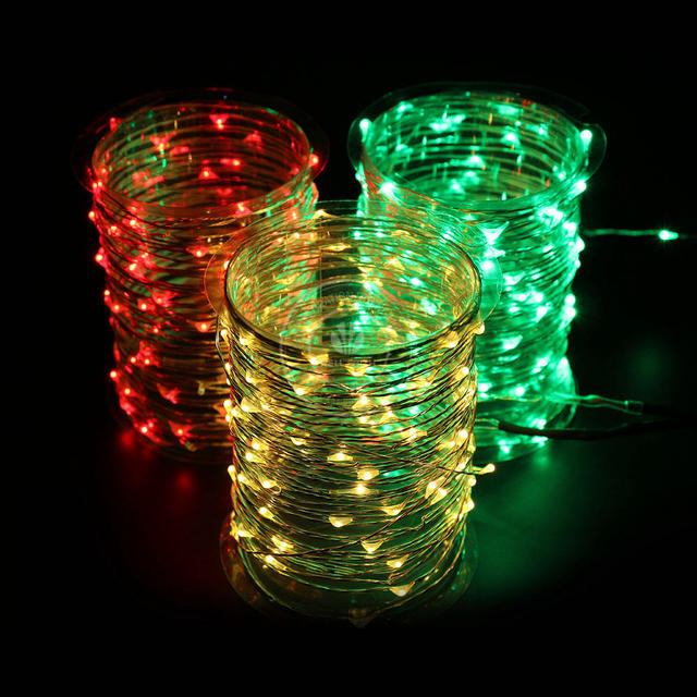 8 pieceslot 10m 100 leds string lights warm white christmas tree 12v adapter for