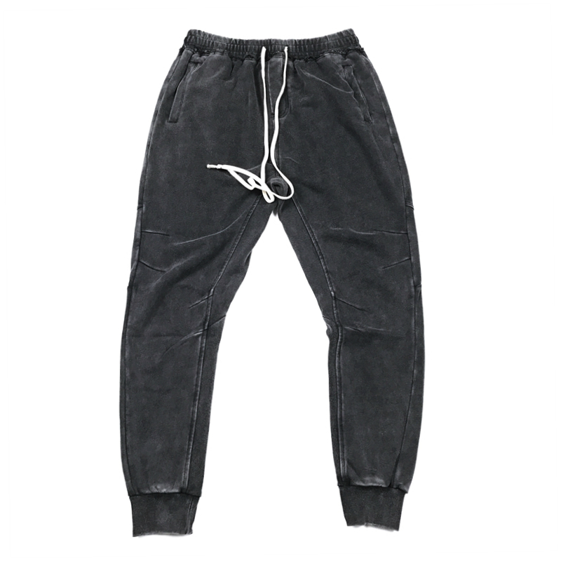 Jogger Pants Streetwear Black Kanye-West Drawstring Cotton Fit Relaxed Long High-Quality title=