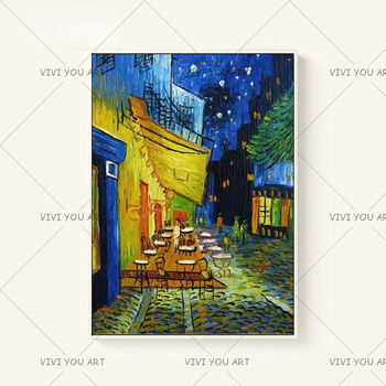 Night Cafe Cafedusoir Van Gogh Oil Painting Reproductions Hand Painted Canvas Oil Paintings Abstract For Bedroom Wall Decor Art