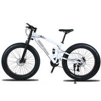 Di alta qualità di Mountain bike 26 Fatbike 7/21/24 Velocità ammortizzatore biciclette Motoslitta freni a Doppio disco di la moto Shippin Libero