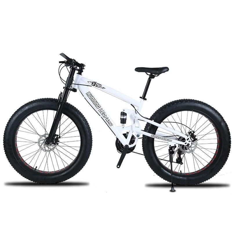Haute qualité VTT 26 Fatbike 7/21/24 vitesse amortisseur vélos motoneige double disque freins du vélo livraison gratuite
