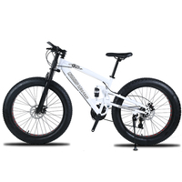 High quality Mountain bike 26 Fatbike 7/21/24 Speed shock absorber bicycles Snowmobile Dual disc brakes of the bike Free Shippin