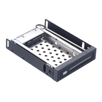 2.5in SATA HDD/SSD drive case Hot swap Tray less Internal Mobile Rack for floppy disk bays