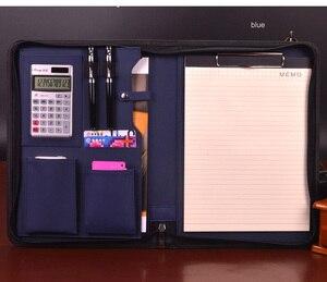 Image 2 - Папка на молнии А4, из искусственной кожи, для деловых работ, сумка менеджера совещаний, органайзер для файлов, папок документов, 641B