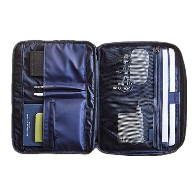 Men Business Document Bag Shockproof 13 Inch Notebooks Laptop Liner Bag Briefcase A4 File Folder Paper Storage Travel Accessory