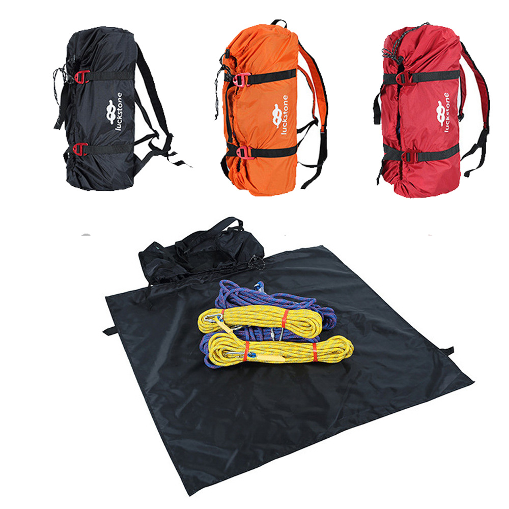 Rock Climbing Rope Bag Cord Carry Tackle Bag Hiking Shoulder Backpack Folding Portable Waterproof Backpack Ground Mat