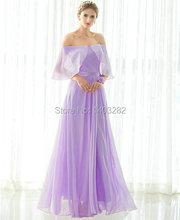 In Stock Lavender Junior Cheap Bridesmaids Dresses Long Elegant Chiffon Wedding Guest Party Dresses Floor Length