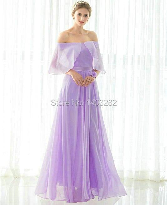 In Stock Lavender Junior Cheap font b Bridesmaids b font font b Dresses b font Long