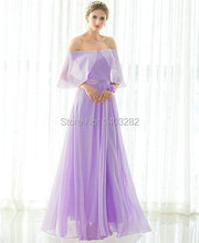In Stock Lavender Junior Cheap Bridesmaids Dresses Long Elegant Chiffon Wedding Guest Party Dresses Floor Length Formal Dresses