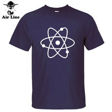 New Fashion Science Atom New Cool Geek Nerd Mens Loose Fit Cotton T Shirt Men Cotton Short Sleeve T-shirt Top Tees