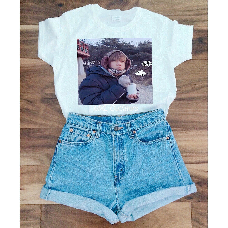 HAHAYULE-JBH 1 pcs BTS Kpop Moda Verão Mulheres t-shirt Coreano Moda 100% Algodão Casual T-Shirt Engraçado Mangas Curtas