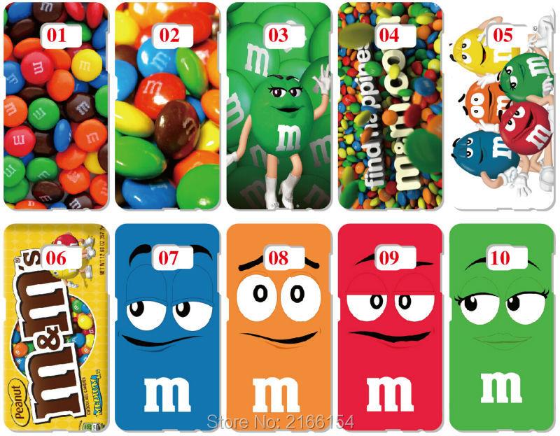 bilder für Lot M & M schokolade Malerei kunststoff Hard Cover Für Samsung Galaxy S2 S3 S4 S5 Mini S6 S7 Rand Plus Note 2 3 4 5 Handy fall