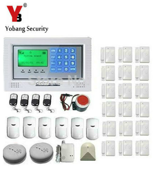YobangSecurity Home Security System Wireless GSM Remote Control Voice Prompt Burglar Alarm House Business Surveillance System 2017 new arrival wireless sms home gsm alarm system wireless remote control house intelligent diy burglar security alarm system