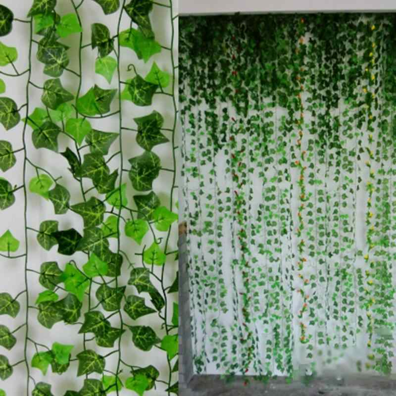 2.5m/98in Green Ivy Vine Delicate Artificial Ivy Leaf Garland Plant Vine Fake Foliage Home Wedding Parties Decor Supplies #2