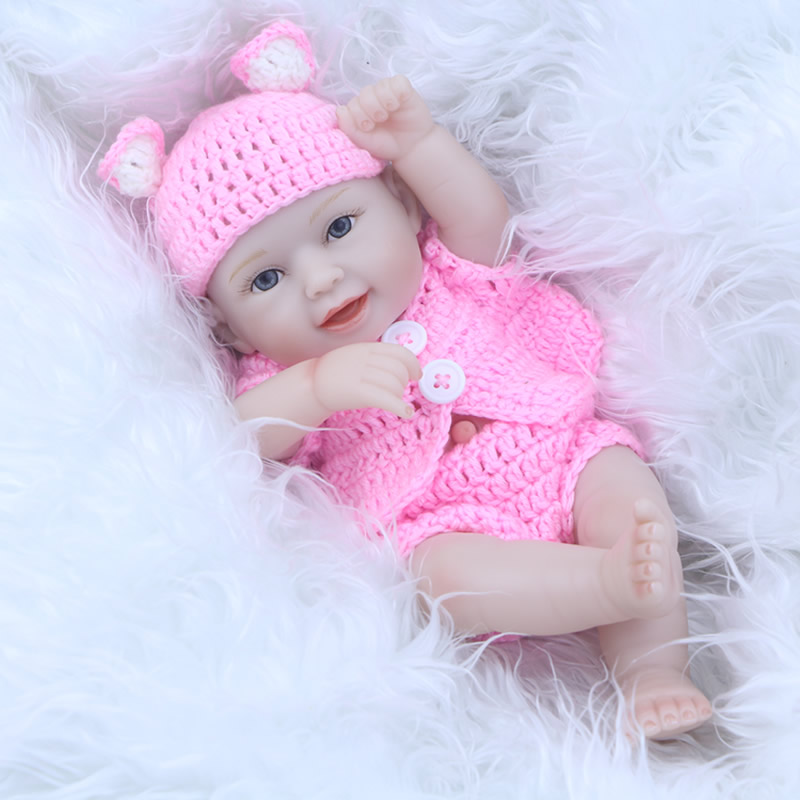 NPK Collection 11 Inch Sleeping Tiny Reborn Baby Doll For Girl Gift Realistic Dolls Newborn For Play House Toys Simulator Dolls sensory scout