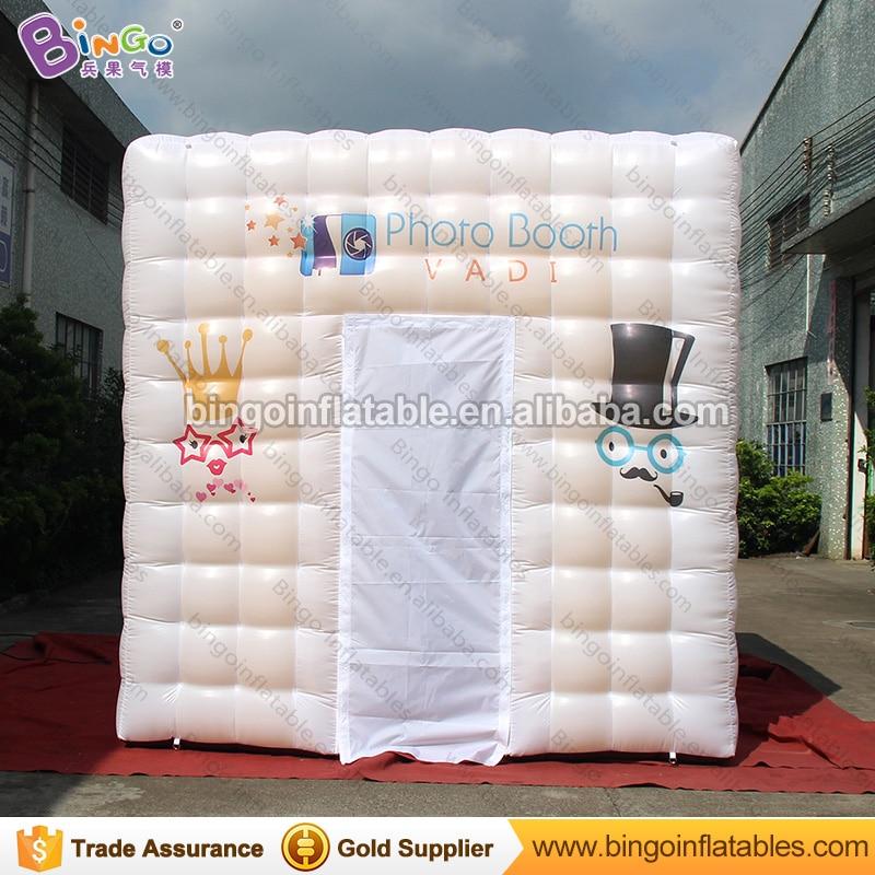 3x3x3 mètres doré gonflable cabine de mariage photo cabine tente portable mobile