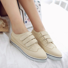 2016 New Korean Style Low Flat Bottom cansual Shoes A Thick Waterproof Muffin Bottom Increased Singles Women Shoes