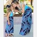 XXS-3XL Семейный Стиль Набор Мать Дочь Платья Одежда Мода Мама и Дочь Платье Семья Одежда Родитель-Ребенок Набор WT03